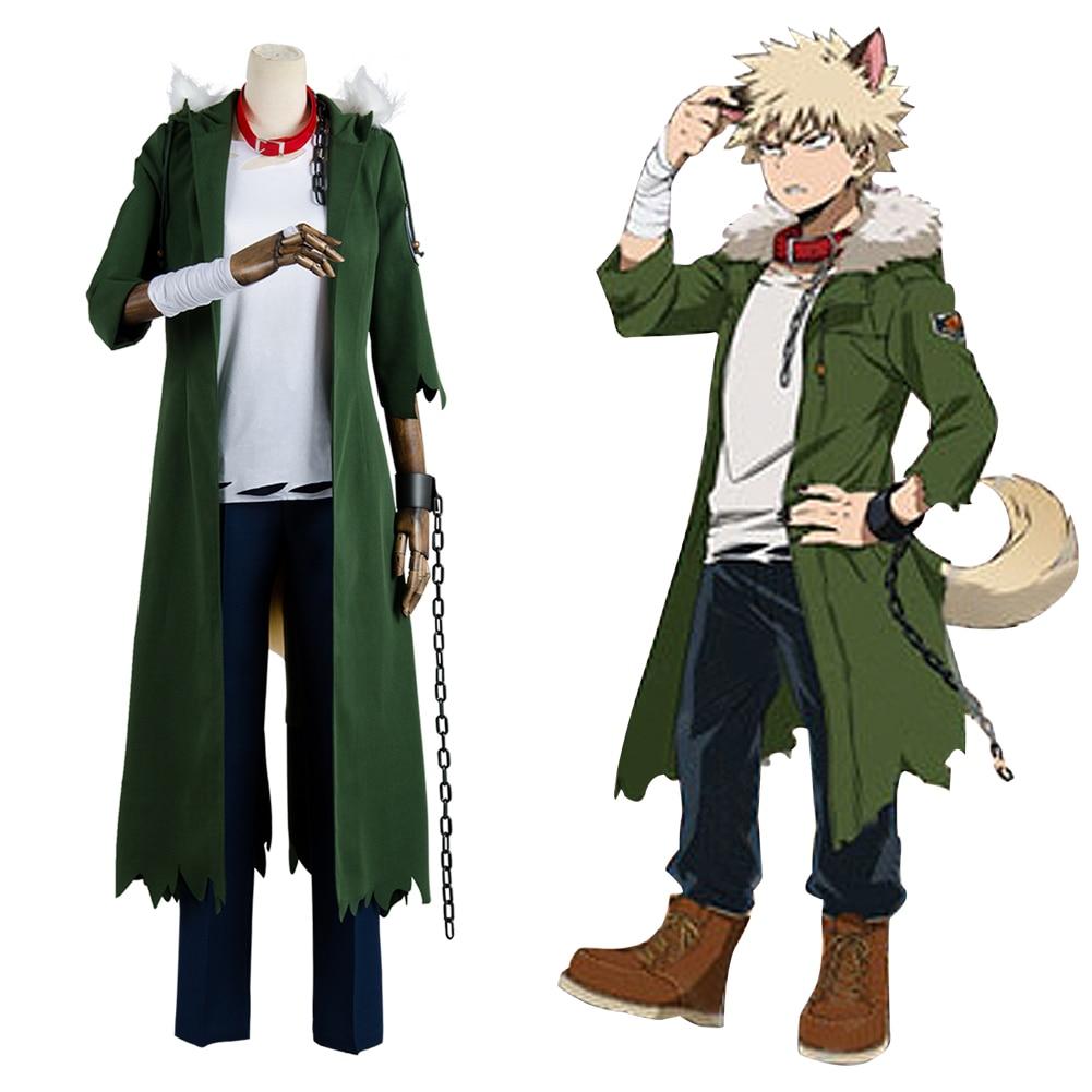 Disfraz de Cosplay de My Hero Academia Katsuki Bakugou, disfraz de uniforme para hombre adulto, disfraz de Carnaval de Halloween