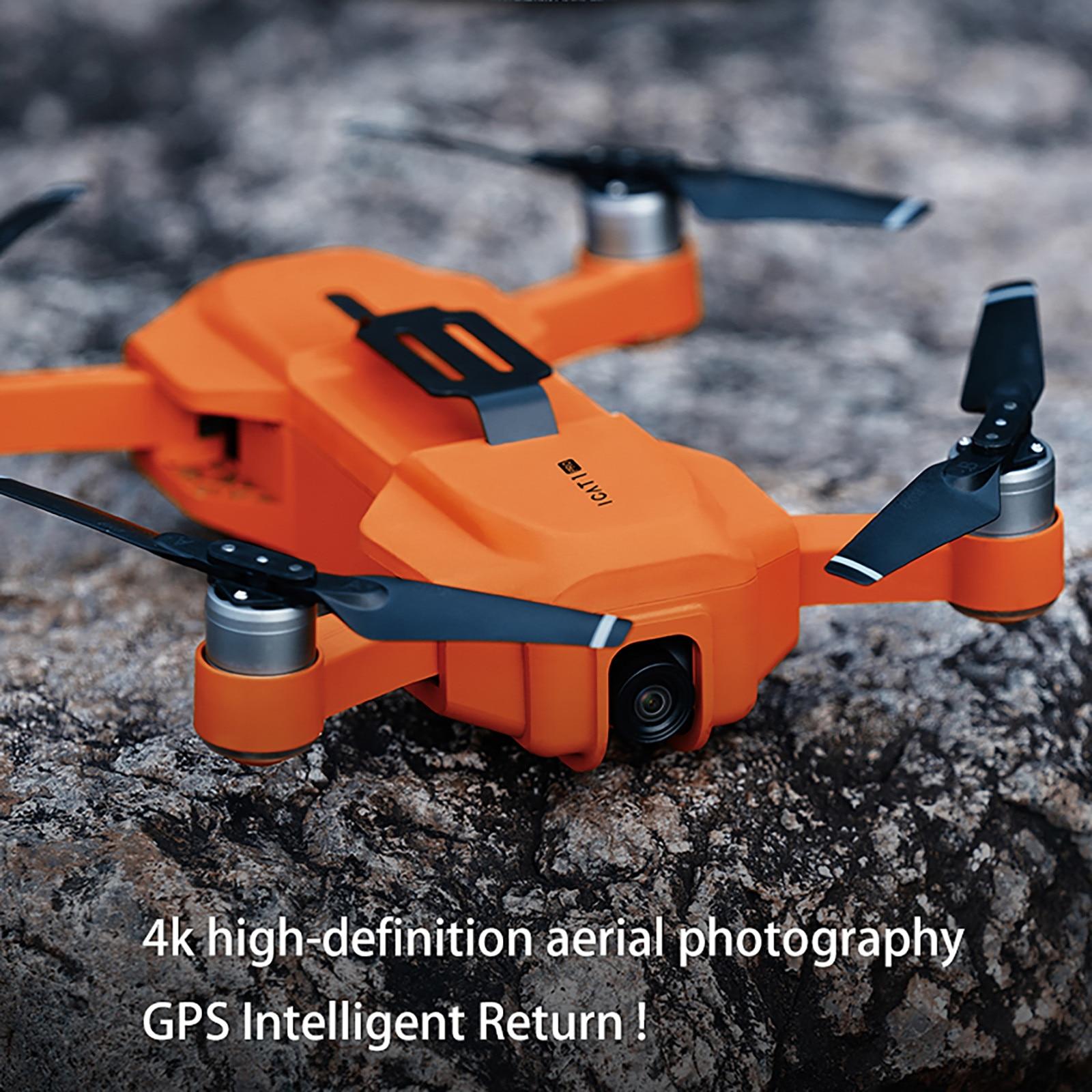 Dobrável Selfie Câmera de Vídeo Rc Quadcopter Drones Wi-fi Fpv 4k Hd Icat1 Pro Gps Zangão Zangão Квадракоптер С Камерой4k