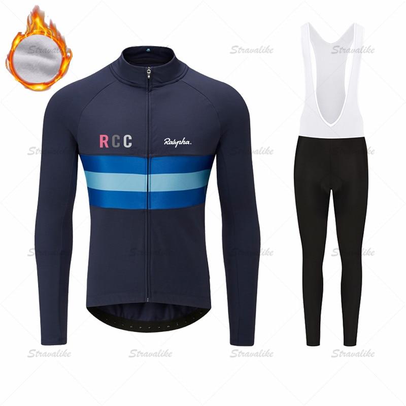 Ralvpha-Ropa de Ciclismo de manga larga para Hombre, Jersey de lana transpirable...