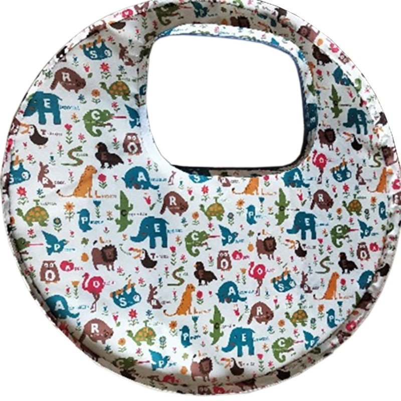 Baby Bib Feeding Animal / Sailing Boat Fruit Kids Anti Dirty Seat Pad Prevent From Throwing Food Feed Waterproof Bibs