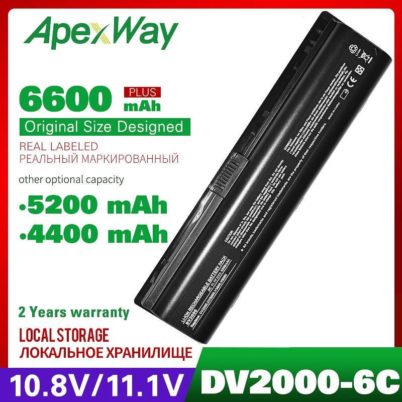 11,1 V batería de ordenador portátil para HP pabellón dv2500 dv2600 dv6500...