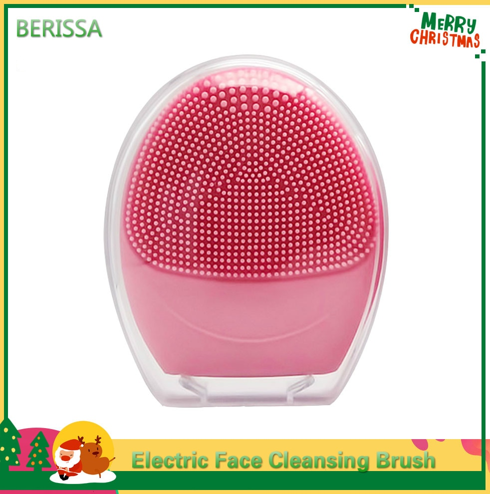 Sonic Facial Cleansing Brush Foreoing Waterproof Exfoliating Massaging Silicone Electric Face Cleanser Skin Deep Cleaning Brush недорого