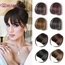HUAYA Women Fake Bangs Synthetic Natural Hair Bangs Hairpiece Hair Extension Clip Short Fake Fringe Overhead Bang