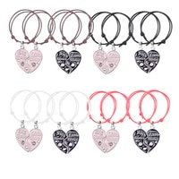 2 pieces set new fashion good sister bracelet trendy metal pendant female hand chain set friendship gift jewelry free shipping