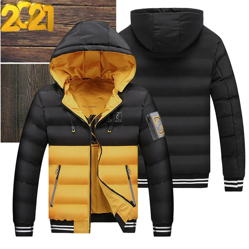 Jacket men 2021 new autumn/winter cotton coat fashion hooded pros and cons can wear thick casual down jacket