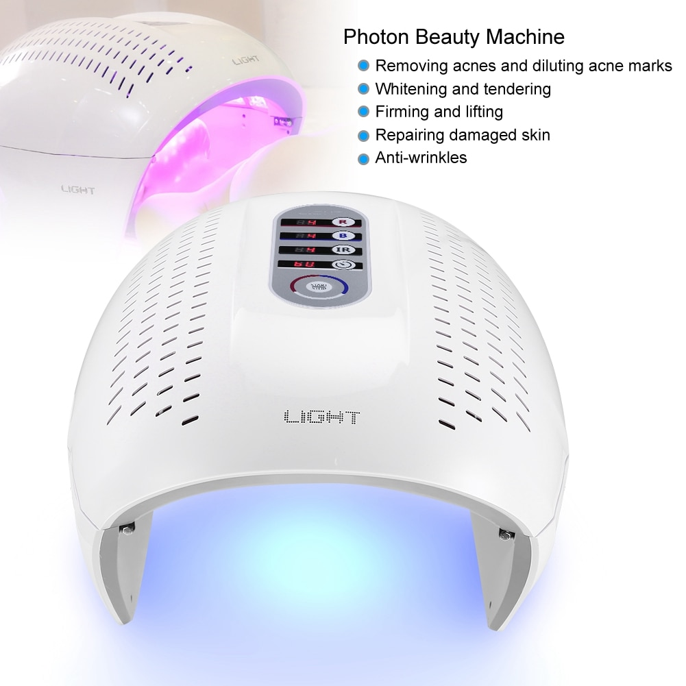 4-Color PDT Acne Removal Machine Face LED Light Therapy Skin Rejuvenation