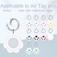 hasahing for airtags cover cute cat paw cartoon silicone protection anti lost protective case for apple locator tracker cover