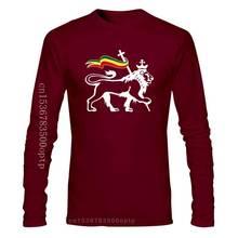 New Lion Of Judah Carrying Rastafari Flag Art Rasta Weed Mens T Shirt Size S - 3Xl Wholesale Tee Shi