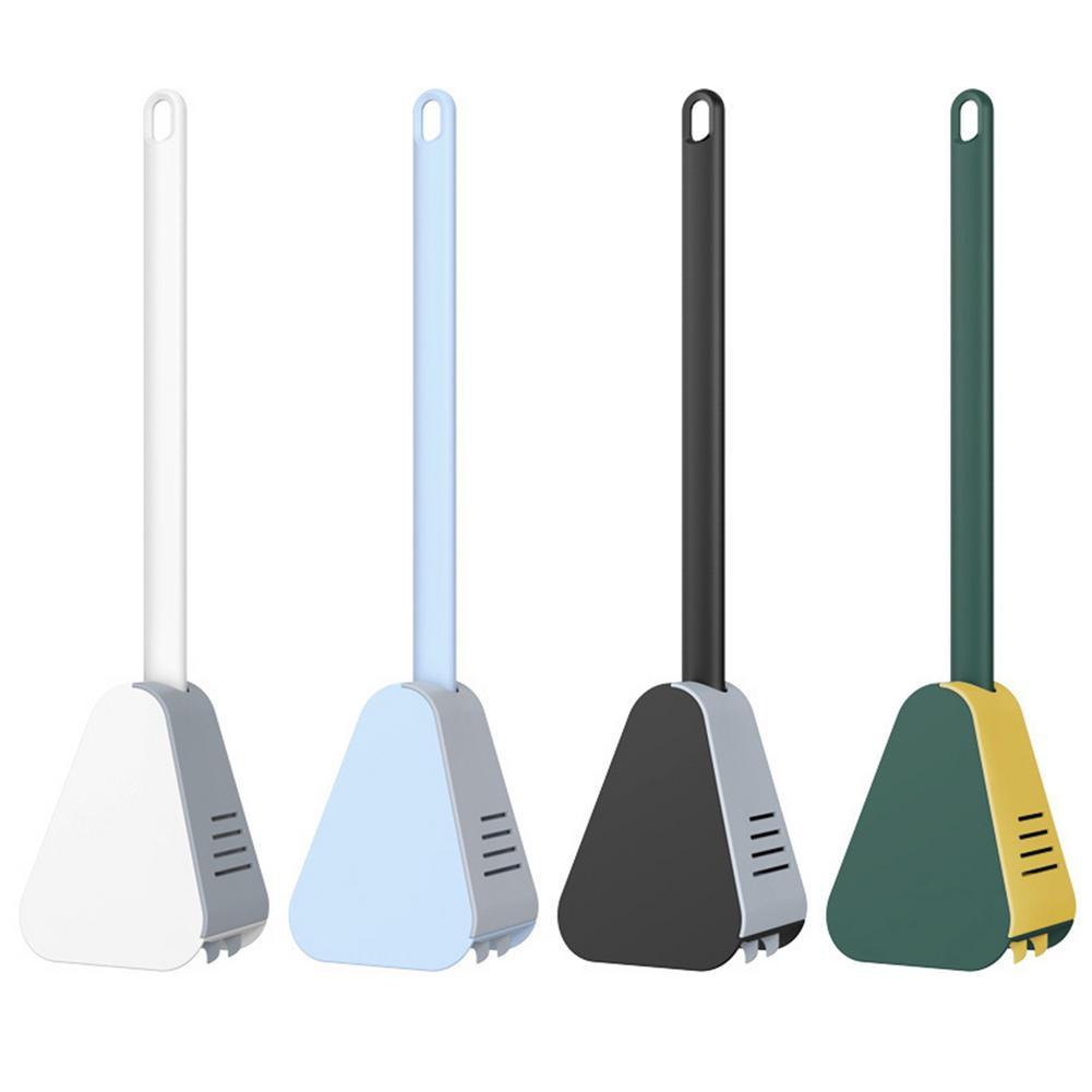 Golf Stick Shape Toilet Cleaning Brush Silicone Automatic Innovative Closestool Corner Brush Tool Wi