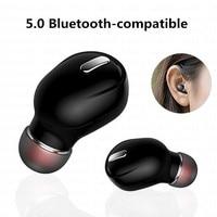 Беспроводные мини-наушники Bluetooth 5,0, спортивные наушники с микрофоном, гарнитура для режима «свободные руки», наушники-вкладыши, наушники дл...