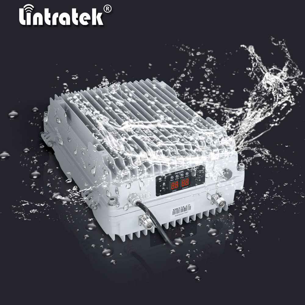 Amplificador de señal Lintratek 90dB de alto rendimiento 2g 3g 4g 850 900 1700 1800 1900 2100 mhz repetidor de amplificador para teléfono móvil al aire libre