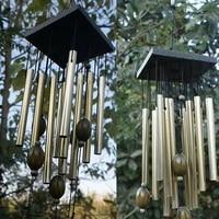 Grand carillon de vent  Klokken en cuivre  tube de vent  ornement de porte  decoration de maison  de jardin exterieur