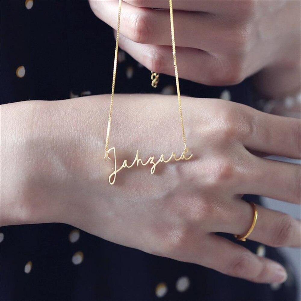 Ожерелье под заказ, модное женское ожерелье с именем под заказ, золотистый чокер под заказ, ожерелье с именной табличкой, подарок для девушк...