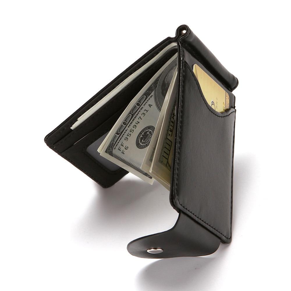 Men PU Leather Wallet Card Holder Male Fashion Purse Small Hasp Money Bag Mini Vintage Slim Wallets