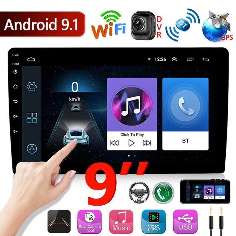 2 Din Car Radio Autoradio Android 9.1 9 inch Touch Screen Car Stereo GPS Navigation FM Radio WiFi Bluetooth Head Unit Player