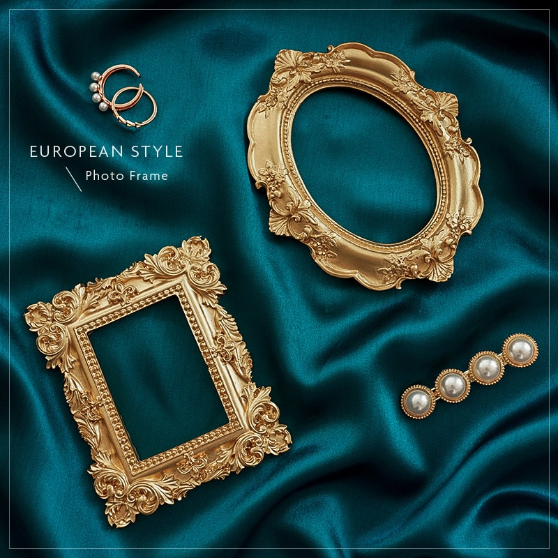 AliExpress - Photography Backdrops Silk Cloth & Golden Vintage Photo Frame Shoot Studio Props Background Fotografia for Jewelry Earrings Ring