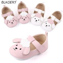 Brand New Fashion Newborn Baby Girl Princess Shoes Soft Sole First Walker Mary Jane Flats Cartoon Pu