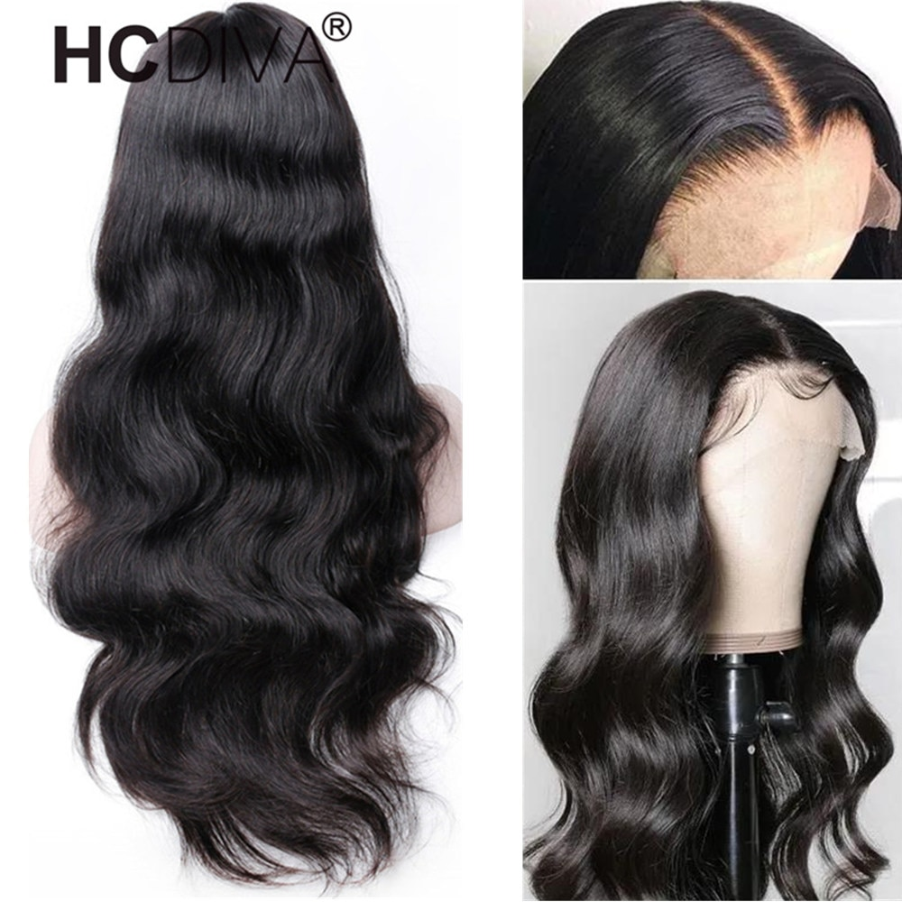 30inch Body Wave Lace Part Wig For Women Peruvian Remy Human Hair Wig Pre Plucked With Baby Hair Mid