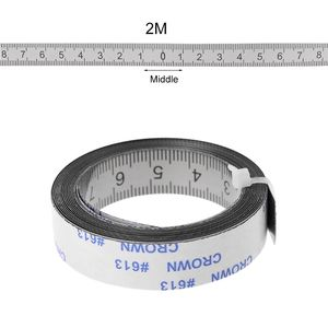 Miter Track Tape Measure Self Adhesive Metric Stainless Steel Scale Ruler 1M-3M For T-track Router Table Saw Woodworking Tool
