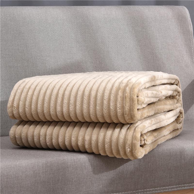 50 macio macio fofo listrado flanela cobertores para camas sólido coral velo jogar inverno roupa de cama sofá capa colcha cobertores