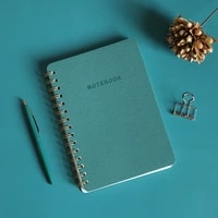 simple thicken business coil notebook agenda daily weekly monthly plan spiral organizer school supplies stationery notepad gift