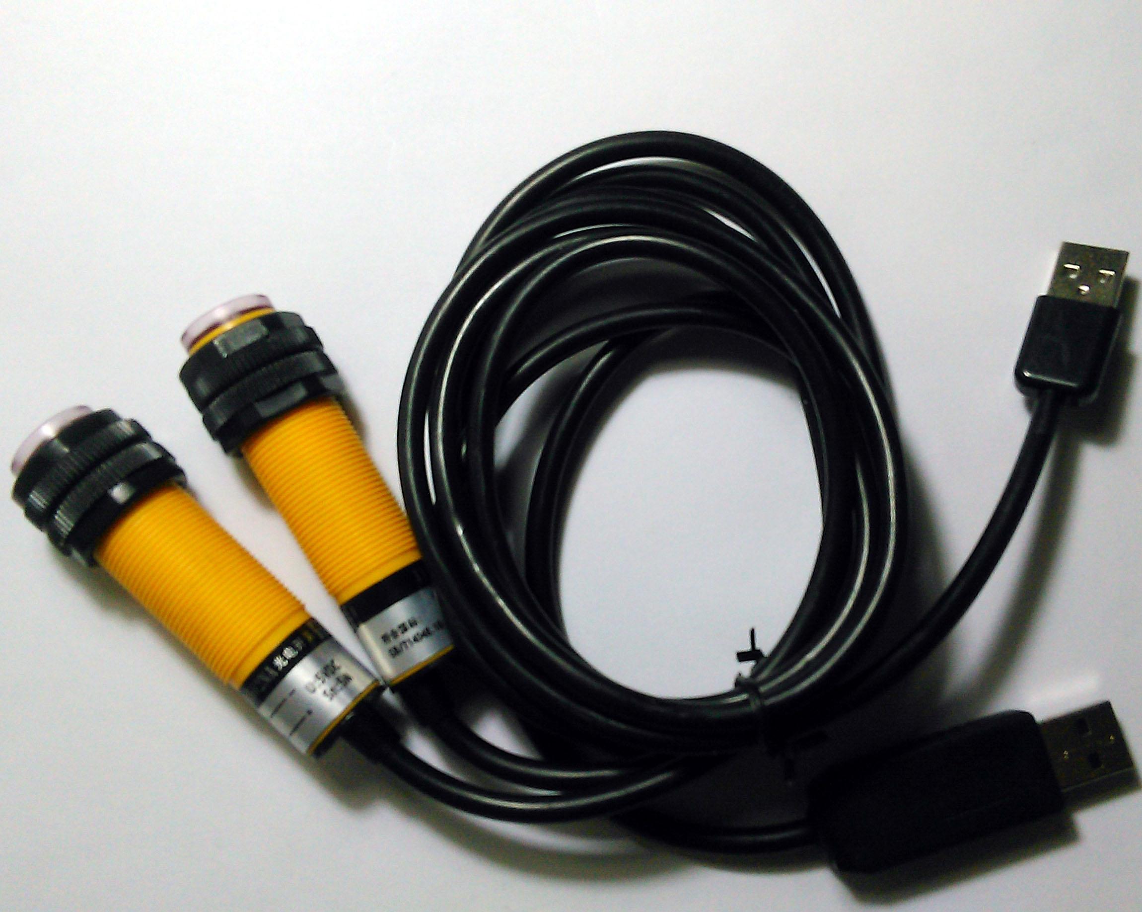 التبديل الكهروضوئية USB ، من خلال نوع شعاع ، قياس المسافة 5-10 متر ، لوحة مفاتيح بمنفذ USB مضاهاة ، التنمية الثانوية