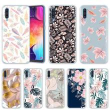 Blätter und Blumen Kunst Fall für Samsung Galaxy A50 A20 e A70 A80 A60 A40 A30 A10 s A9 A7 a8 A6 Plus 2018 Silikon Telefon Abdeckung
