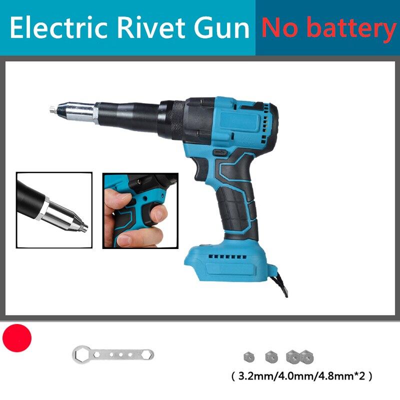2.4-4.8mm With LED Light Rivet Nut Gun Drill Riveting Tool Powerful Electric Rivet Gun Automatic Rivet Nut Gun Rivet Tool
