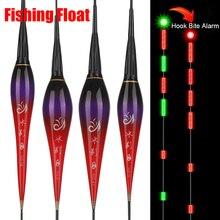 Bande intelligente pêche flotteur morsure alarme poisson appât automatique lumière LED nuit électronique changeante bouée grève pêche intelligente