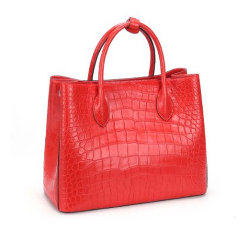 Dongou سيام التمساح حقيبة الإناث حقيقية جلد التمساح حقيبة يد يبرز المرأة التمساح حقيبة يد المرأة