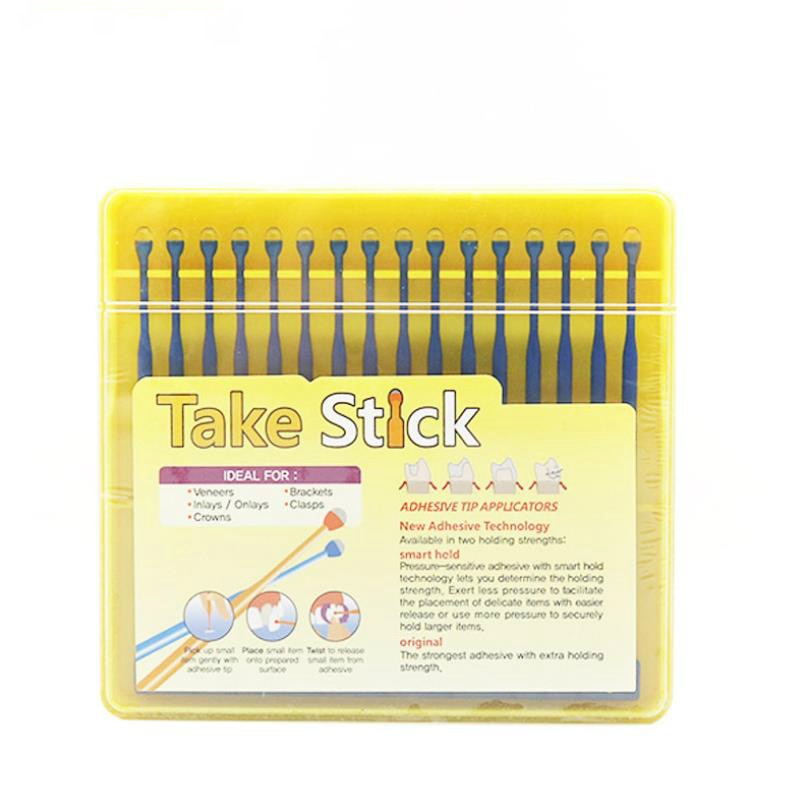 64 unids/caja adhesivo Dental punta Rod chapas Unión palo aplicador consejos para Matrice de incrustación de corona Unión Rod pegajoso