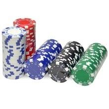 10 pièces/lot jetons de Poker Casino ABS + fer + argile Poker puce Texas Holdem Poker pièces de monnaie en métal jetons de Poker ensemble accessoires de Poker