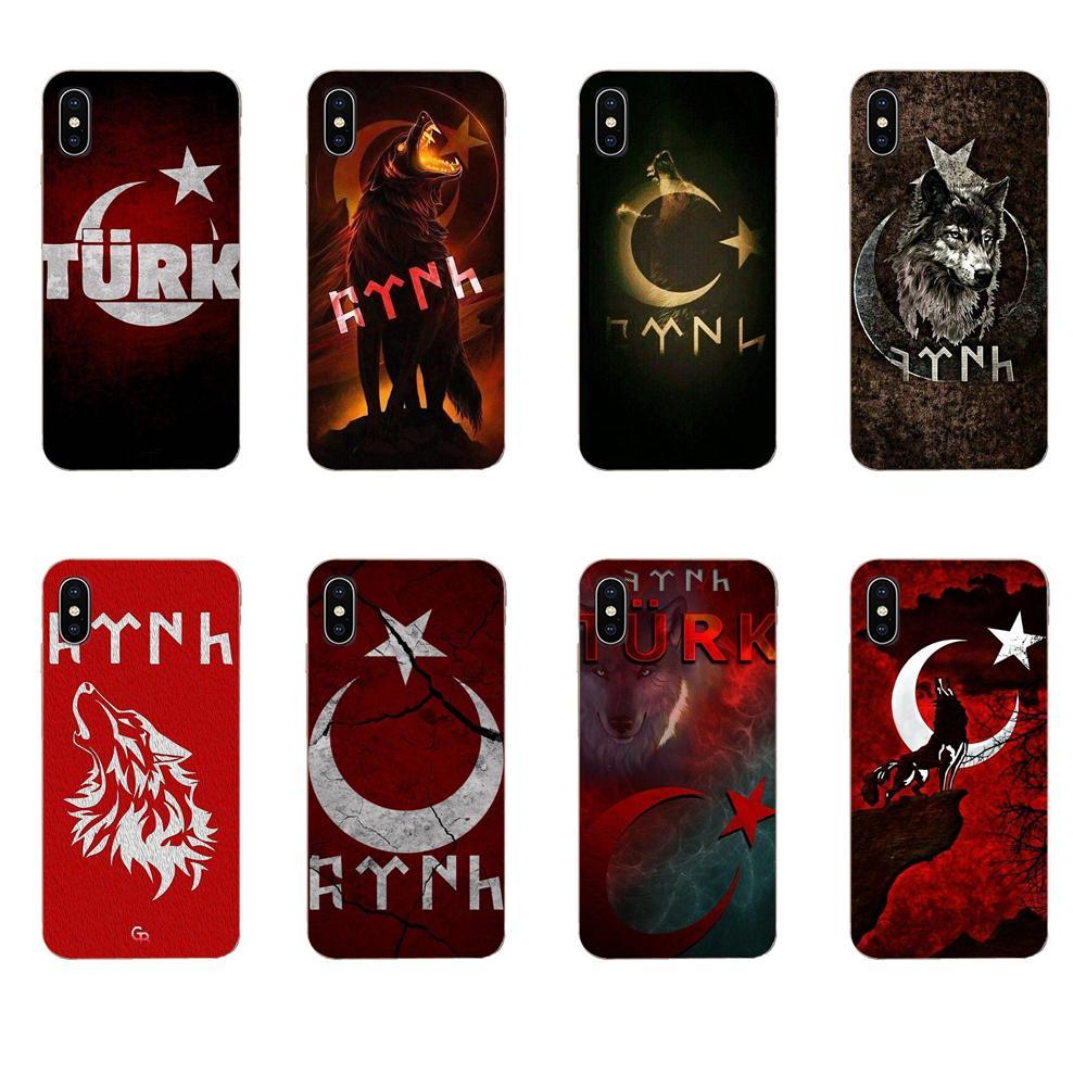 De la piel del TPU del cuadro Bandera de Turquía lobo para HTC deseo 530, 626, 628, 630, 816, 820, 830 A9 M7 M8 M9 M10 E9 U11 U12 la vida además de