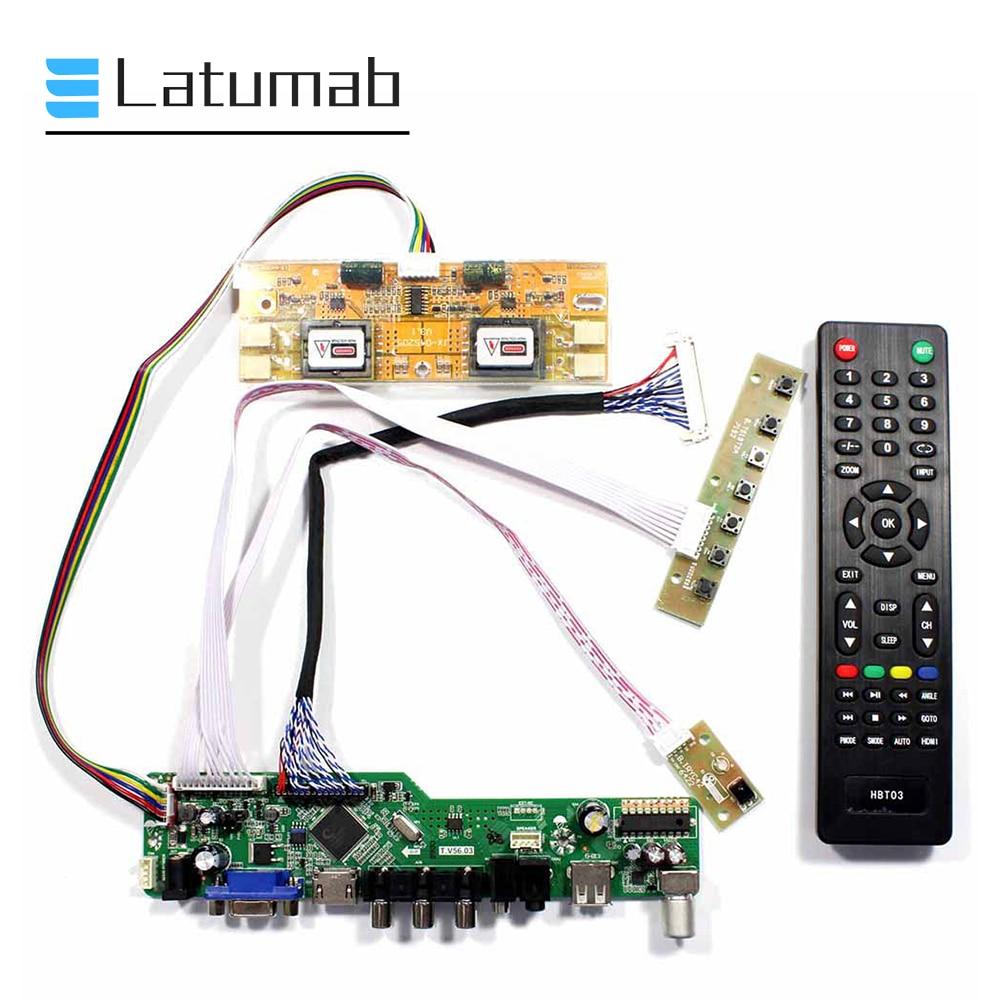 "Placa controladora de Panel de visualización Latumab para M201WE3-TLF1 / M201WE3-TLF2 / M201WE3 20,1 ""1680 × 1050 TV + HDMI + VGA + USB"
