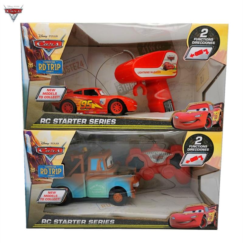 Coche de juguete de Disney modelo Pixar Cars2 3 Lightning McQueen Mater, coche a control remoto, modelo de coche de juguete de cumpleaños para niños