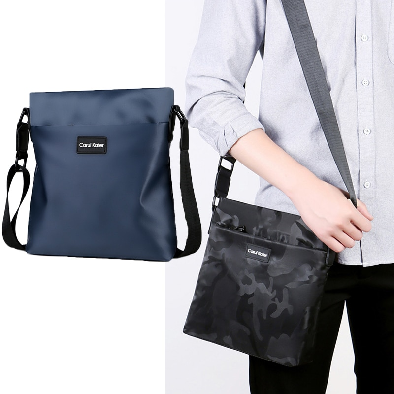 2021 new men's shoulder bag fashionable Oxford cloth messenger bag to go out sports and leisure cloth bag simple and casual