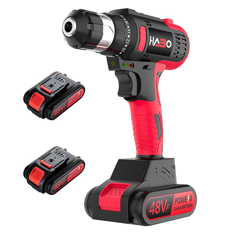 48V brushless electric drill Electric screwdriver 25+1 gear torque adjustment electric drill smart chuck power tools