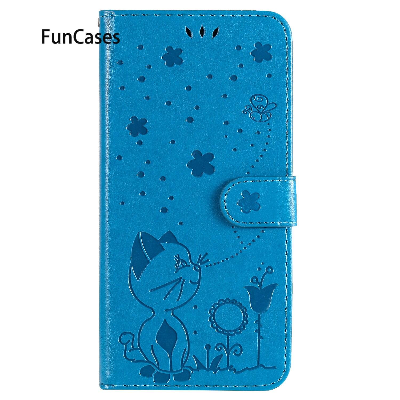 Funda con diseño de gato y abeja para Samsung A750, funda de...