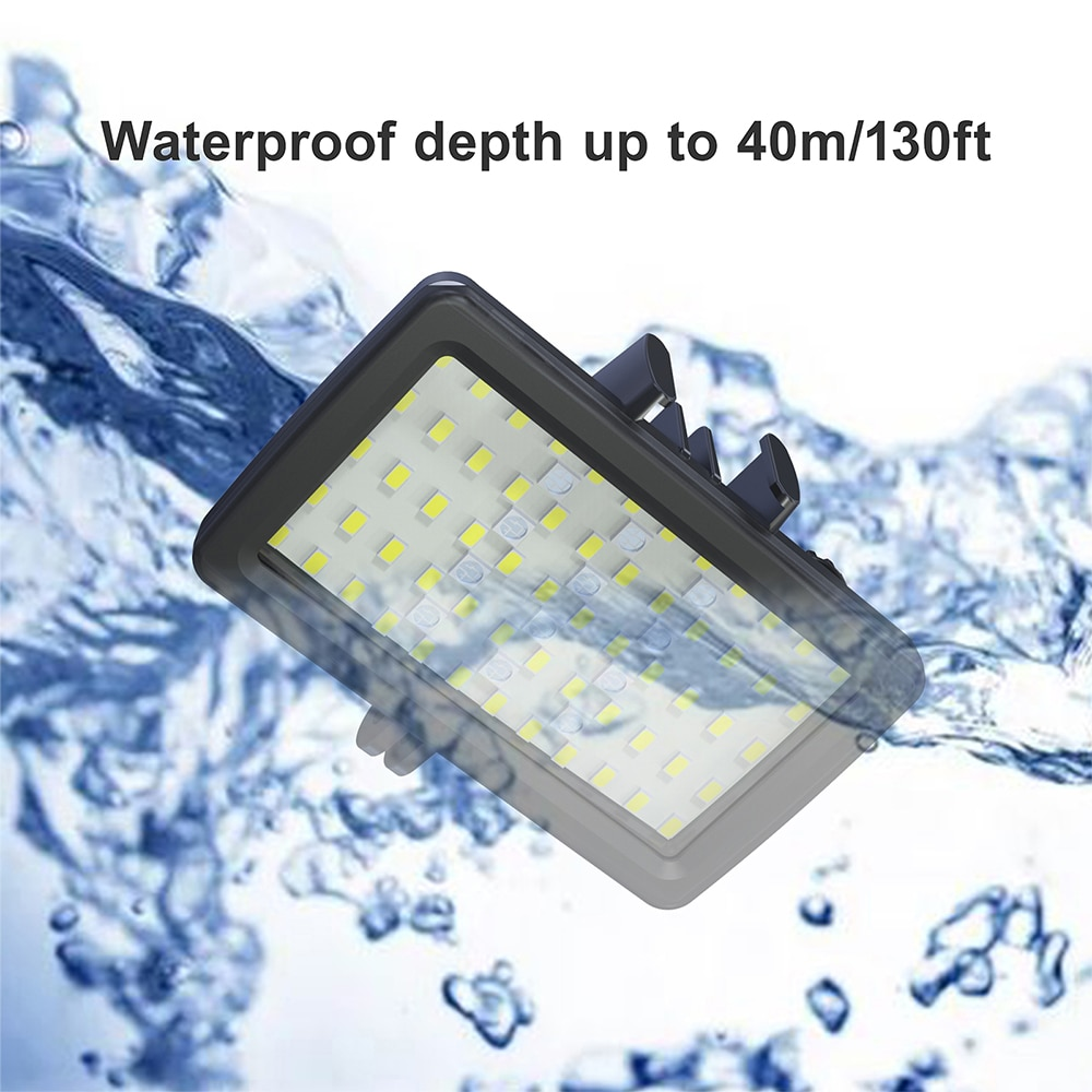 Professional IPX8 Waterproof RGB Video Light 3000mAh Rechargeable Photography Fill Light 5000-6000K LED Camera Light for Gopro enlarge