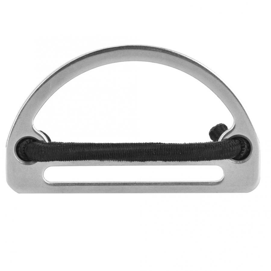 Cinturón de buceo hebilla de anillo en D cinturón de peso de acero inoxidable correa de correa soporte de buceo hebilla de anillo de buceo accesorio de buceo Snorkling