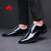 Formal Shoes Men 2021 Autumn Fashion Wedding Footwear Luxury Brand Dress Shoes Male Office Business Patent Leather Men Shoes