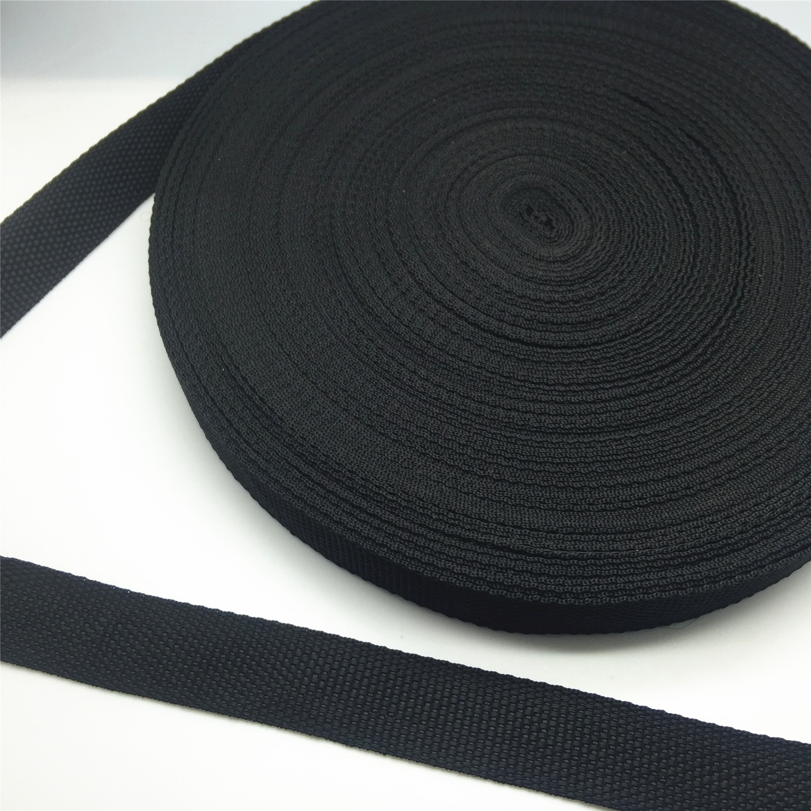NEW 5Yards 10/15/20/25/30/38/50mm Wide Black Strap Nylon Webbing Knapsack Strapping Safety Belt DIY