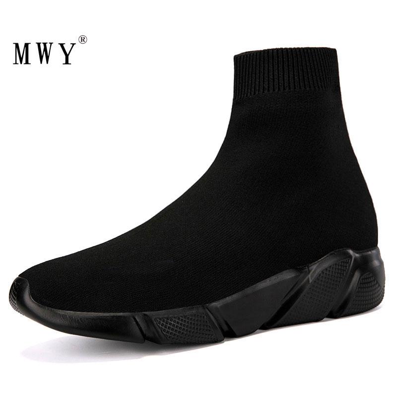 MWY-أحذية رياضية للرجال ، أحذية رياضية منسوجة ، ناعمة ومريحة ، غير رسمية ، مقاس كبير
