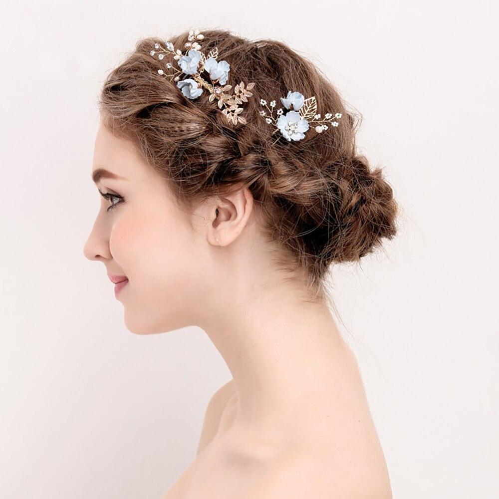 Luxe haarspeld voor vrouwen kammen hoofdtooi prom bruids bruiloft - Bruiloft accessoires - Foto 2