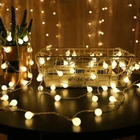 3m 6m 10m led string lights with white ball christmas bulb fairy garlands outdoor for holiday wedding home new years decor