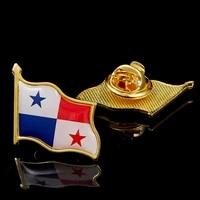 panama republic flag safety pins polish badge country badge brooch hat cap tie safety pins