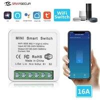 Mini commutateur Wifi intelligent 16a  Module domotique  fonctionne avec Alexa Google Home Smart Life App