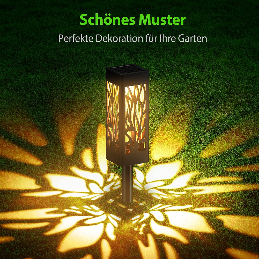6 pcs led luz solar a prova dwaterproof agua oco lampada do jardim ao ar livre gramado