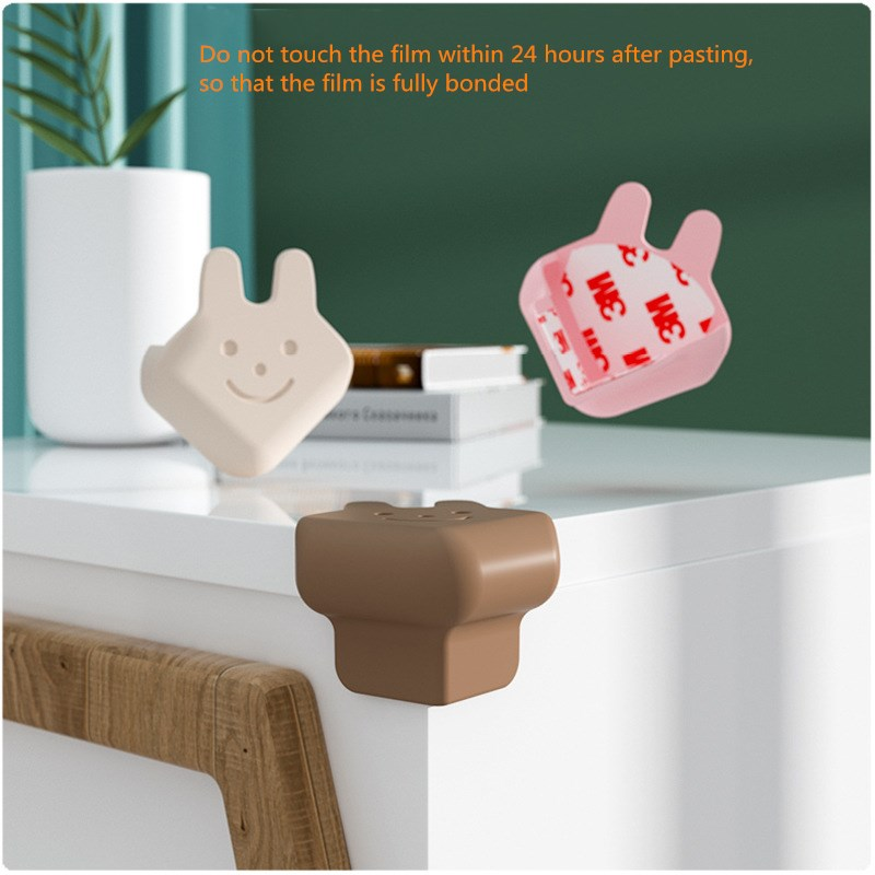 Углы для детского стола, угловые противоударные мебельные Угловые защитные рукава с кроличьей головой, Мультяшные силиконовые Угловые обм...