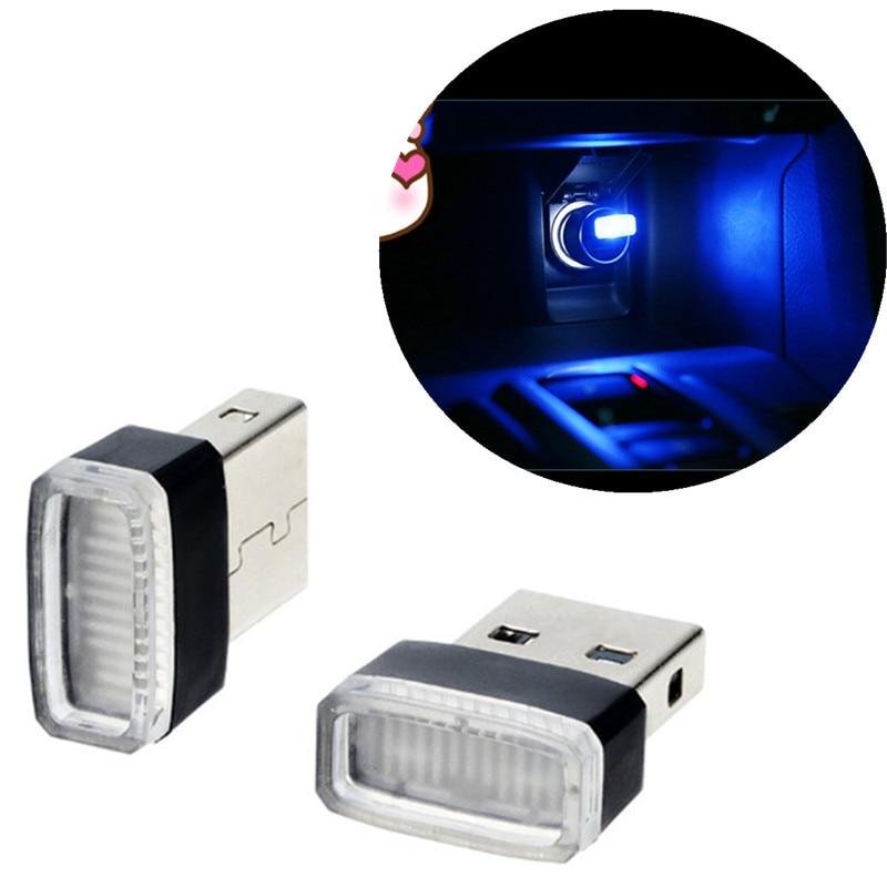 Lámpara decorativa USB con luces LED para Volkswagen, caddy, ford, kuga, skoda, fabia, peugeot 5008 2017, astra h, suzuki gsxr, kia carens